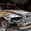 Close up photo of a burned out cars — Stock Photo #40594237