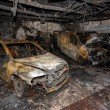 Close up photo of a burned out cars — Stock Photo #40594349