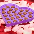 Valentine chocolate present — Stock Photo