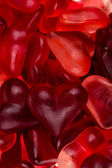 Brightly coloured red gums hearts — Foto Stock