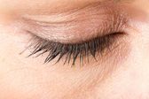 Middle age woman eye macro — Stock Photo