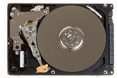 Uncovered 2,5 inch notebook hard drive — Stock Photo