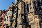 The Prague astronomical clock, or Prague orloj — Stock Photo
