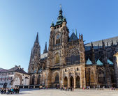 St. vitus cathedral in prague czech republic — Stock Photo