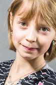 画室肖像,年轻漂亮的女孩 — 图库照片