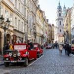Famous historic red car Praga — Stock Photo