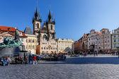 Zabytkowy plac w starej dzielnicy miasta pragi — Zdjęcie stockowe