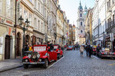 Famous historic red car Praga — Стоковое фото
