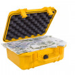 Czech money in yellow plastic case — Stock Photo