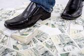 Money concept  - blind to the money — Stock Photo