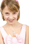 Studio portrait of young beautiful girl — Stock Photo
