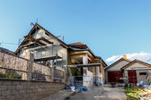 Construction or repair of the rural house — Stock Photo