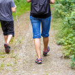 Woman walking with son cross country — Stock Photo #49782993