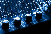 Sfondo di fibra ottica con un sacco di punti luce — Foto Stock