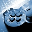 Game controller toned blue — Stock Photo #18452099