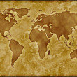 Old worldmap — Stock Photo