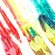 Used paint brushes of different colors — Stock Photo #19864277