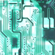 Electronics technology background in green — Stock Photo