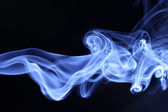 Smoke on black — Stock Photo