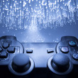Game controller and blue light — Stock Photo #22104925