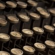 Detail of the keyboard of a vintage typewriter — Stockfoto