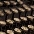Stockfoto: Detail of the keyboard of a vintage typewriter