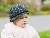Little unhappy girl — Stock Photo