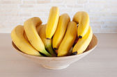 Bananas in a bowl — Stock Photo