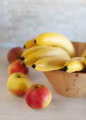 Photo of bananas in the soft focus — Stock Photo