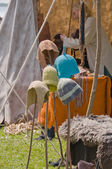 Hats at the viking festival — Stock Photo