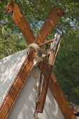 The decoration the the viking tent — Stock Photo