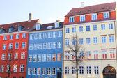 色彩缤纷的哥本哈根公寓 — 图库照片