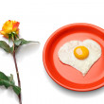 Love is breakfast in bed. — Stock Photo