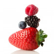 The berry pyramid of health. - Stock Photo