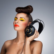 The headphones fashion. — Stock Photo