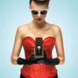 The lust of vintage photographer. — Stock Photo