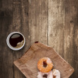Donuts for lunch. — Stok fotoğraf