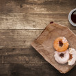 Stock Photo: Donuts for lunch.