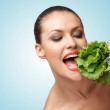 Stock Photo: Green diet.