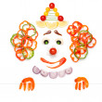 Fruity clown. — Stock Photo
