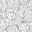 Seamless flower pattern — Stockvectorbeeld