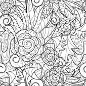 Nahtlose kunst zeichnung — Stockvektor