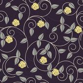 Vector seamless flower background — Stock Vector