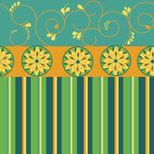 Flower striped pattern — Stock Vector
