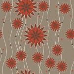 Blume Streifenmuster — Stockvektor