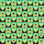 patrón de corazones — Vector de stock  #24399485
