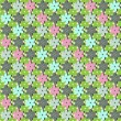 Vector seamless flower pattern — Stock Vector