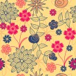 Vector seamless flower pattern - Vektorgrafik