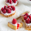 Raspberry frangipane — Stock Photo