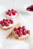 Raspberry frangipane trts — Stock Photo